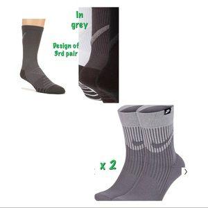 3 pairs of Nike grey socks